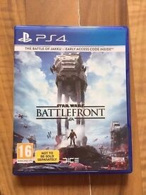 star wars battlefront , ps4 , as new ! price stands , no offers !