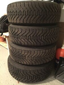 Goodyear winter tires with rims 215/70/15