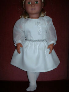American Girl-Sized Doll Clothes: Cream Party Dress