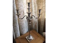 Solid 5 arm candelabra (2 available)
