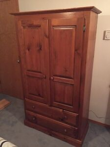 SOLID PINE ARMOIRE! Like new ! Moving need gone ASAP