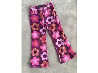 Girls Boden velvet trousers aged 7-8