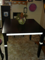 """Bar Height Table w/ 1 Chair - Measures 42"""" Squared"""