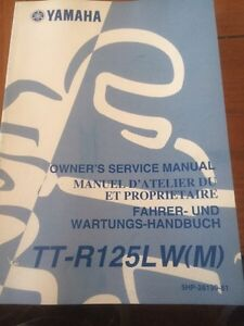 Yamaha TT-R125LW(M) Owners Service Manual