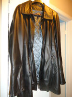ladies large leather jackets, $60 each