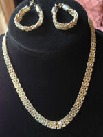 Silver Necklace & Earring Set NEW