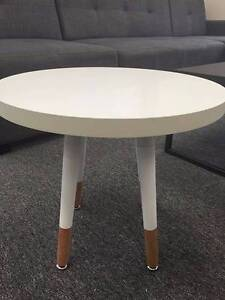 Black 50cm White 40cm Scandinavian Round Coffee Lamp End Table Campbellfield Hume Area Preview