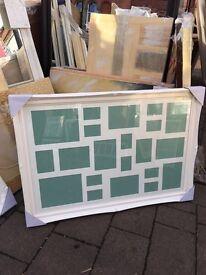 """white swept multi mount frame 36""""x24"""""""
