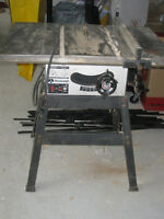 "Rockwell 9"" Table Saw with Stand, Good Condition (Port Sydney)"