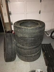 5 Michelin tires size P245/60 18r & 5 bolt jeep rims  Kitchener / Waterloo Kitchener Area image 1