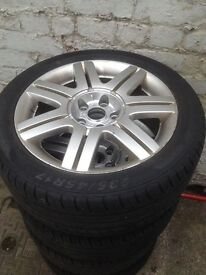 alloys wheels and tyres 17in vw