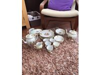 Antique Large Tea Set Very Unique and Stunning Design