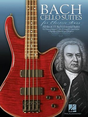 Bach Cello Suites for Electric Bass Sheet Music Bass Book NEW 000123294