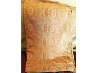 Laura Ashley Home Pinch Pleat Curtains Lined Tamarind Pattern And Tiebacks and matching cushion