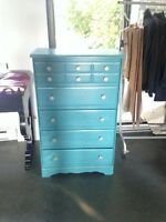 Commode turquoise / turquoise dresser