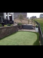 Landscape -  Retain Wall - Paver Stone - Irrigation - Fence