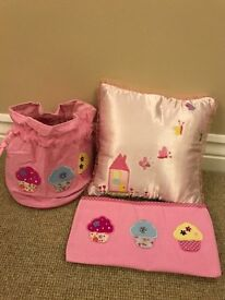 NEW- IDEAL GIFT - Pencil Case, Drawstring Bag & Decorative Cushion