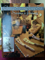 Cheese Serving Kit & Glass Tray