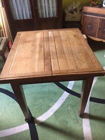 1930's light oak extending dining table