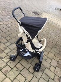 HAUCK BABY PRAM STROLLER in BEIGE and BLACK