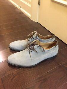 Giorgio ferri light blue suede oxford dress shoes