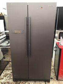 Samsung silver good looking frost free A-class American style fridge freezer cheap price