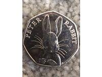 Beatrice Potter Peter Rabbit 50p piece