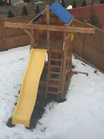 Canadian Made Solid Wood Play Structure (Like New)