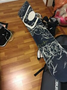 Snowboard ,bindings,boots ,bag