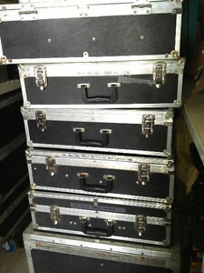 Road case 15 spaces for power amp/ other cases available