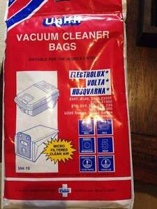 Vacuum cleaner bags suits Electrolux, Volta & Husquarna (5 bags) Newstead Brisbane North East Preview