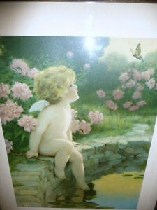 "Bessie Pease Gutmann ""The Butterfly"" Original Vintage Print 1912 Stratford Kitchener Area image 2"