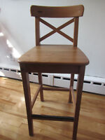Two IKEA INGOLF bar stools // deux tabouret de bar