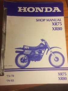 Honda XR75 XR80 Shop Manual