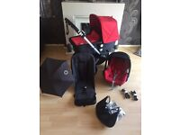 Bugaboo Cameleon 2 full travel system in excellent condition with brand new cam 3 fabrics