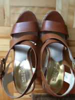 MICHAEL KORS GIOVANNA SANDALS WEDGES USED SIZE 7.5