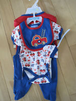 7 pc baby boy outfit - new