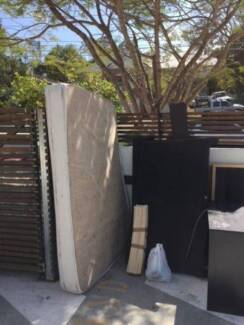 Queen size bed and spring mattress -- Free Indooroopilly Brisbane South West Preview