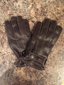 Men's leather insulated gloves