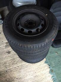 """Set of four steel wheels 5x100 14"""""""