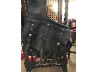 Genuine leather saddle bag