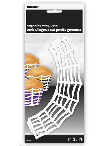 Halloween Party Spider Web Cupcake Paper