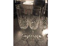 Glasses cut crystal