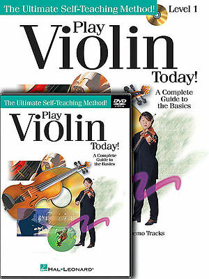PLAY VIOLIN TODAY BEGINNER LEVEL 1 BOOK + DVD SET NEW - Beginner Level