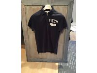 Men's navy blue Abercrombie & Fitch / A&F polo. Like new