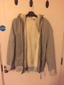 Wool lined hoody