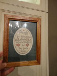 "Oak Frame with Inspirational Message ""Parents Hold Children..."" Kitchener / Waterloo Kitchener Area image 2"