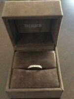 Birks Channel Set Half Eternity Ring in 18K Yellow Gold