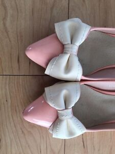 Pink Shoes with Bows 1 inch heel