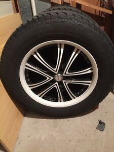 """Used Winter tires  on rims  18"""""""